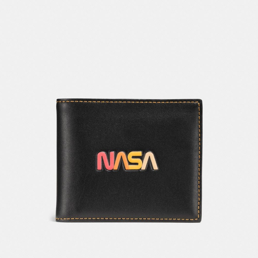 3-IN-1 WALLET IN GLOVETANNED LEATHER WITH EMBOSSED SPACE