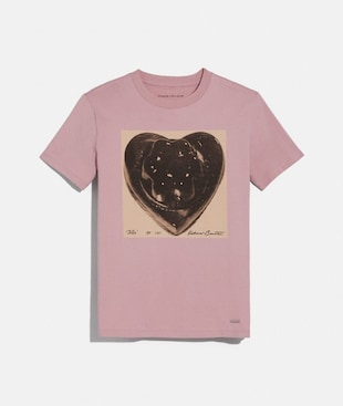 COACH X RICHARD BERNSTEIN BLACK JELLO HEART T-SHIRT