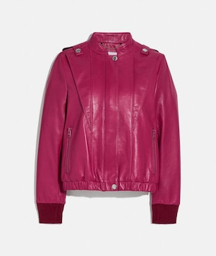 SATIN LEATHER BLOUSON