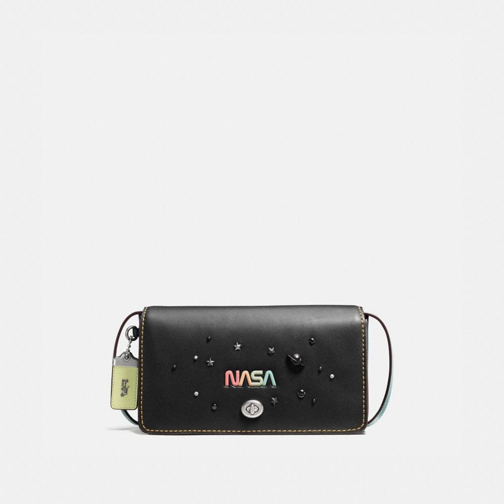 DINKY IN GLOVETANNED LEATHER WITH SPACE EMBELLISHMENT