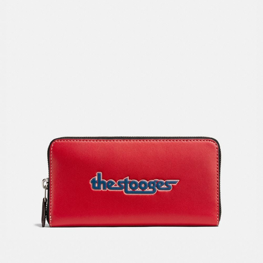 ACCORDION WALLET IN GLOVETANNED LEATHER WITH THE STOOGES