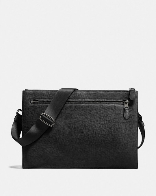 SAC MESSENGER FIN MANHATTAN CONVERTIBLE EN CUIR GALET