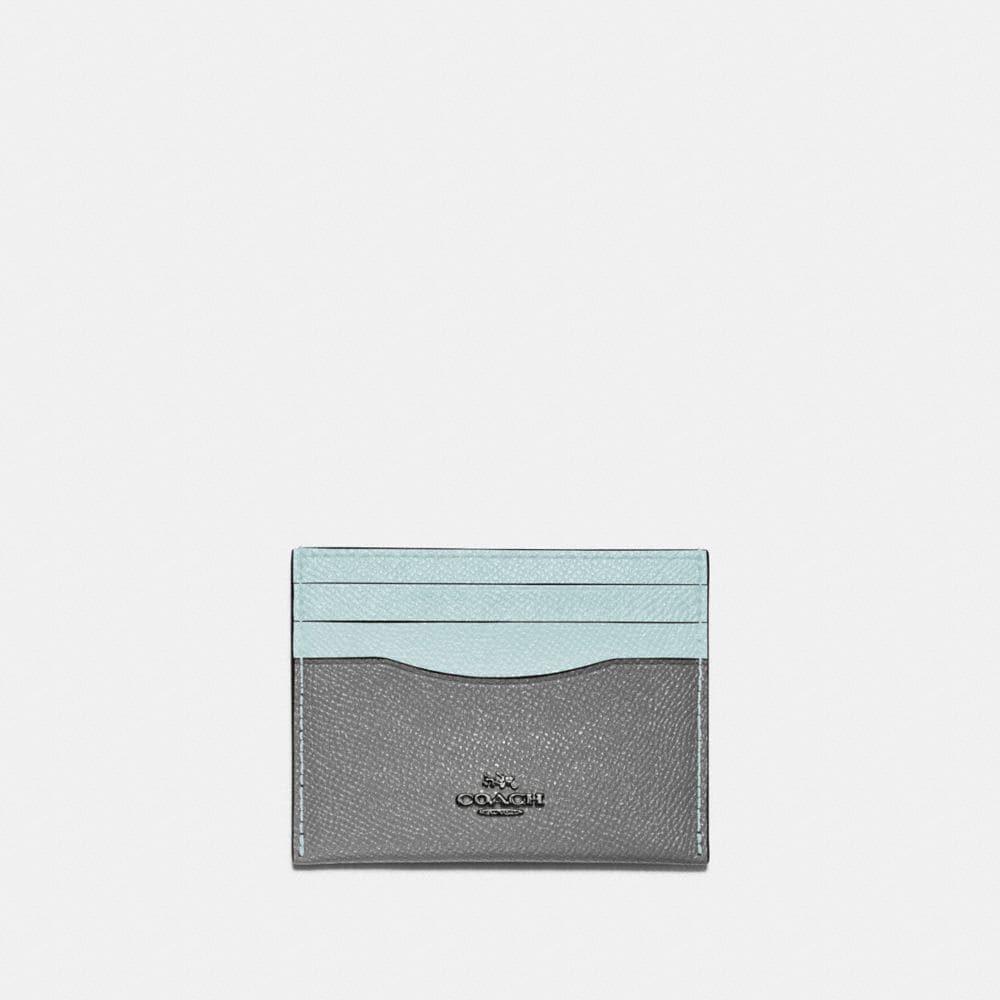 CARD CASE IN COLORBLOCK LEATHER
