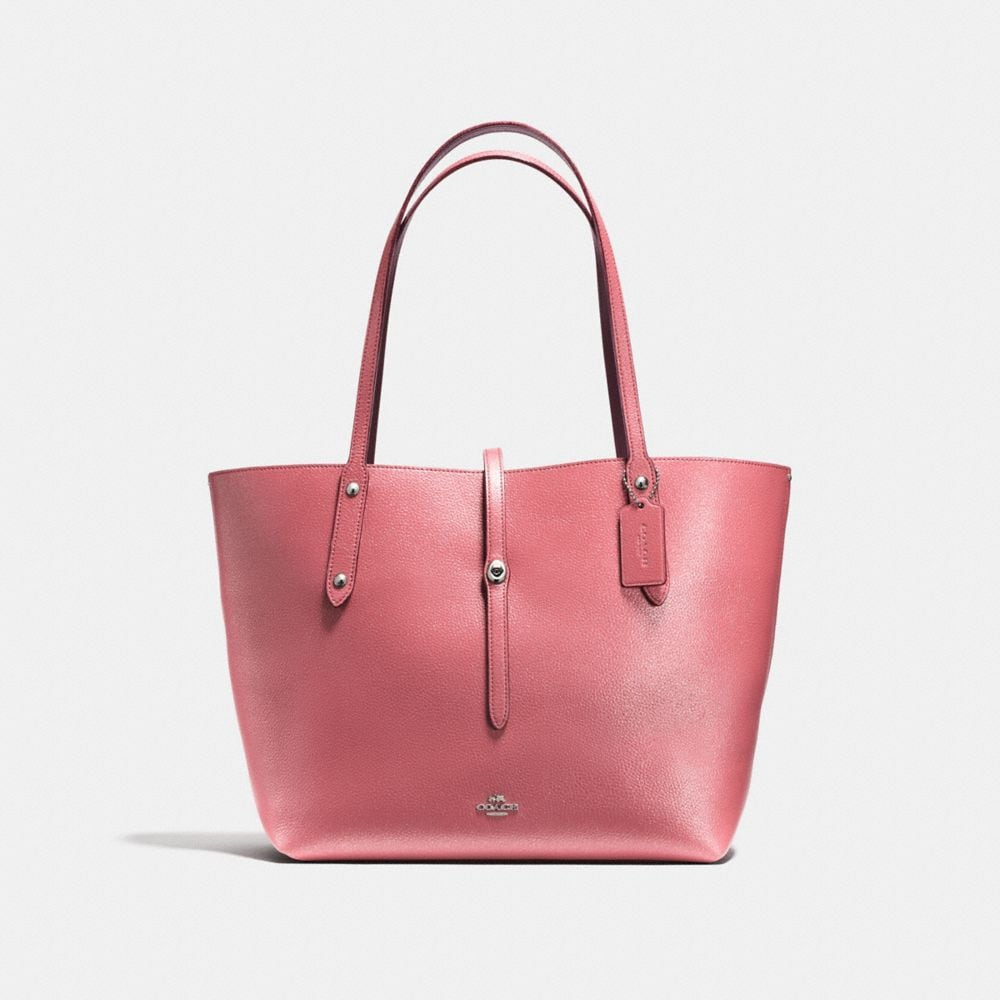 MARKET TOTE IN GLITTER ROSE POLISHED PEBBLE LEATHER
