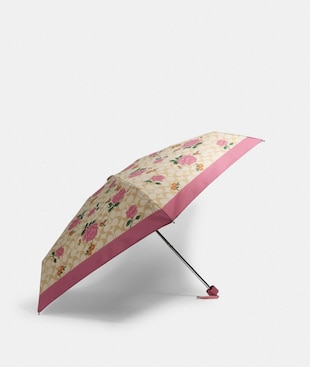 MINI UMBRELLA IN SIGNATURE PRAIRIE ROSE PRINT