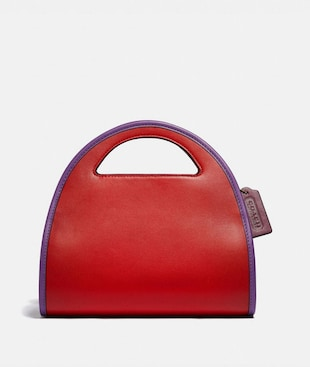 ZIP DOME CROSSBODY IN COLORBLOCK