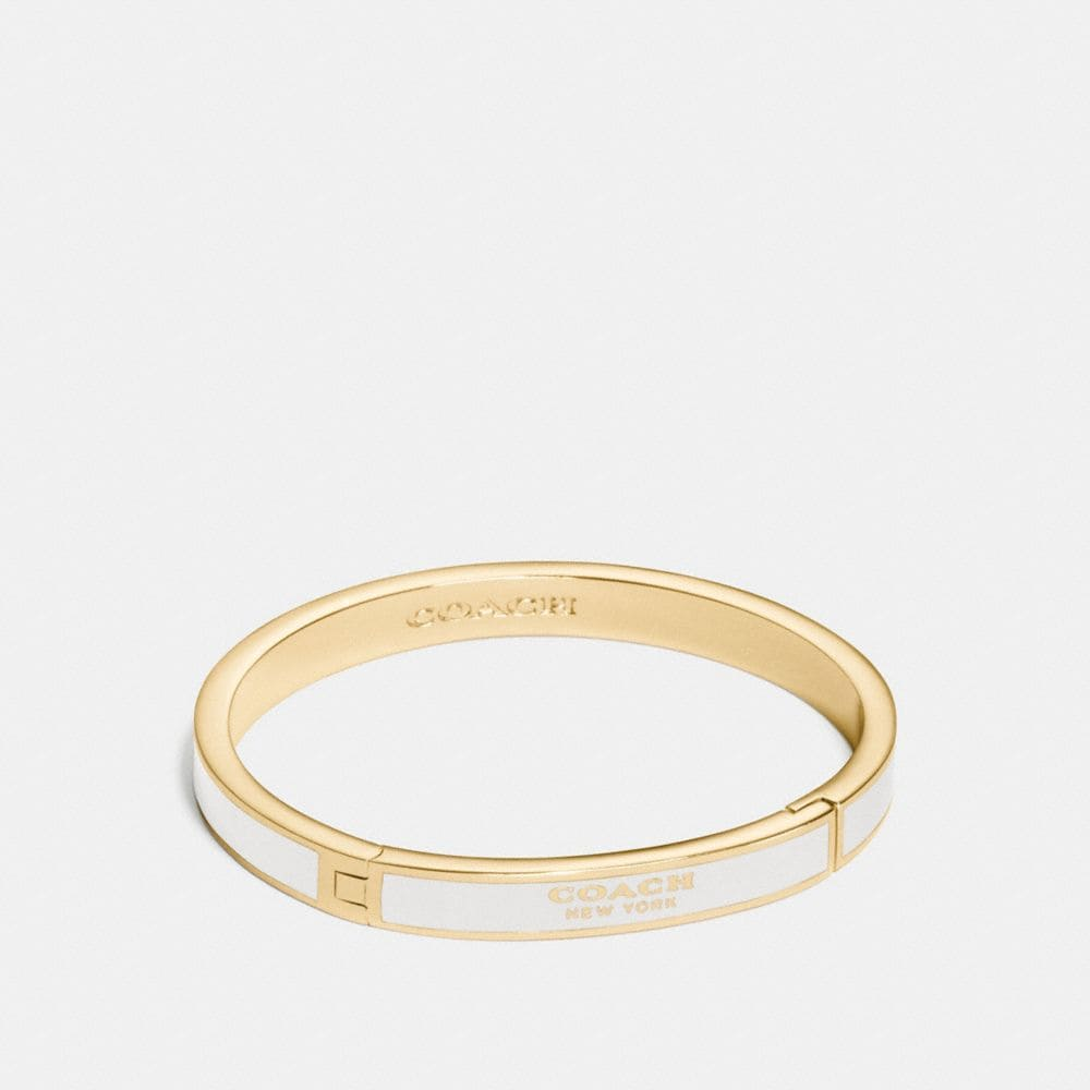 COACH ENAMEL HINGED BANGLE
