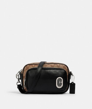 COURT CROSSBODY IN SIGNATURE CANVAS WITH COACH PATCH