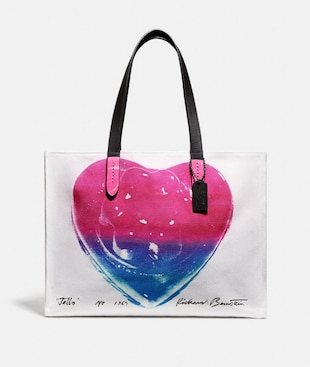 COACH X RICHARD BERNSTEIN TOTE 42 WITH JELLO HEART