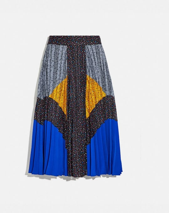 MIX PLEATED SKIRT
