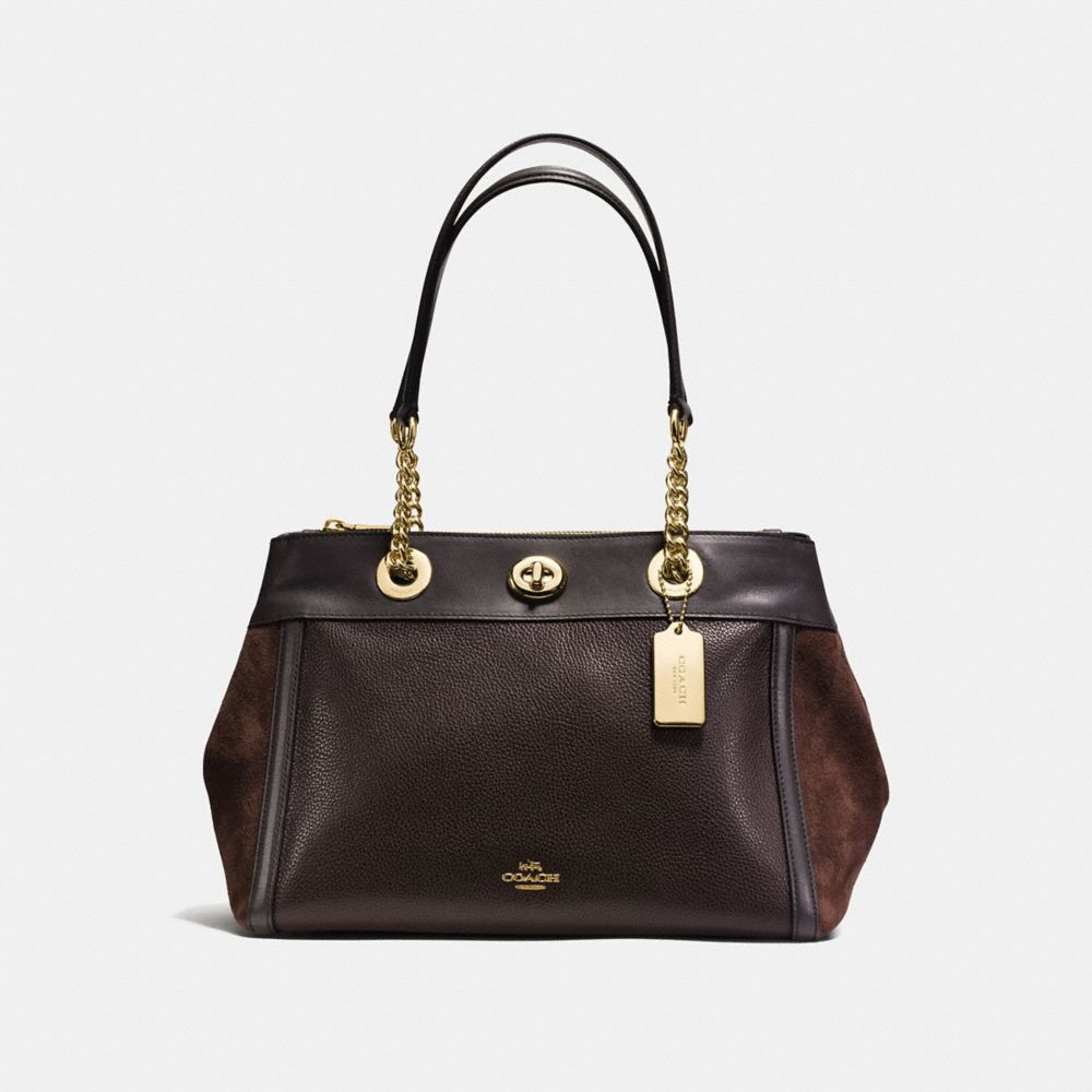 TURNLOCK EDIE CARRYALL IN MIXED LEATHERS