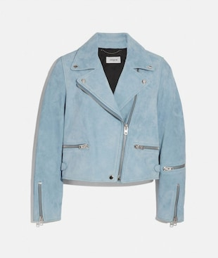 SUEDE GHOST BIKER JACKET