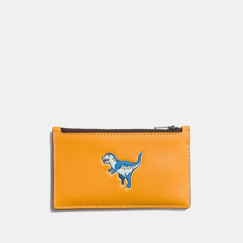ZIP CARD CASE IN GLOVETANNED LEATHER WITH REXY