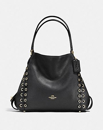 02be6de4a611 EDIE SHOULDER BAG 31 WITH COACH LINK DETAIL