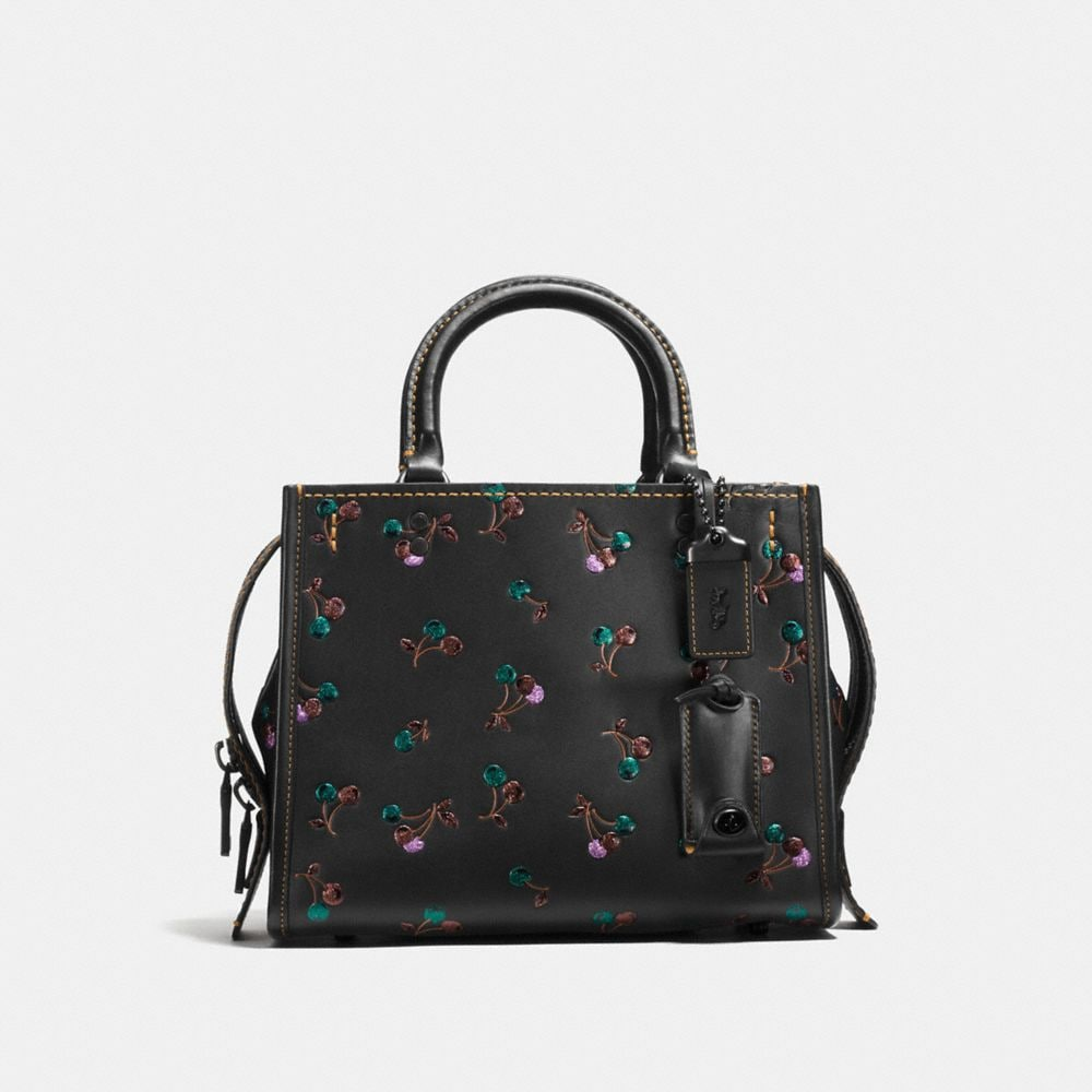 ROGUE 25 IN GLOVETANNED LEATHER WITH CHERRY PRINT