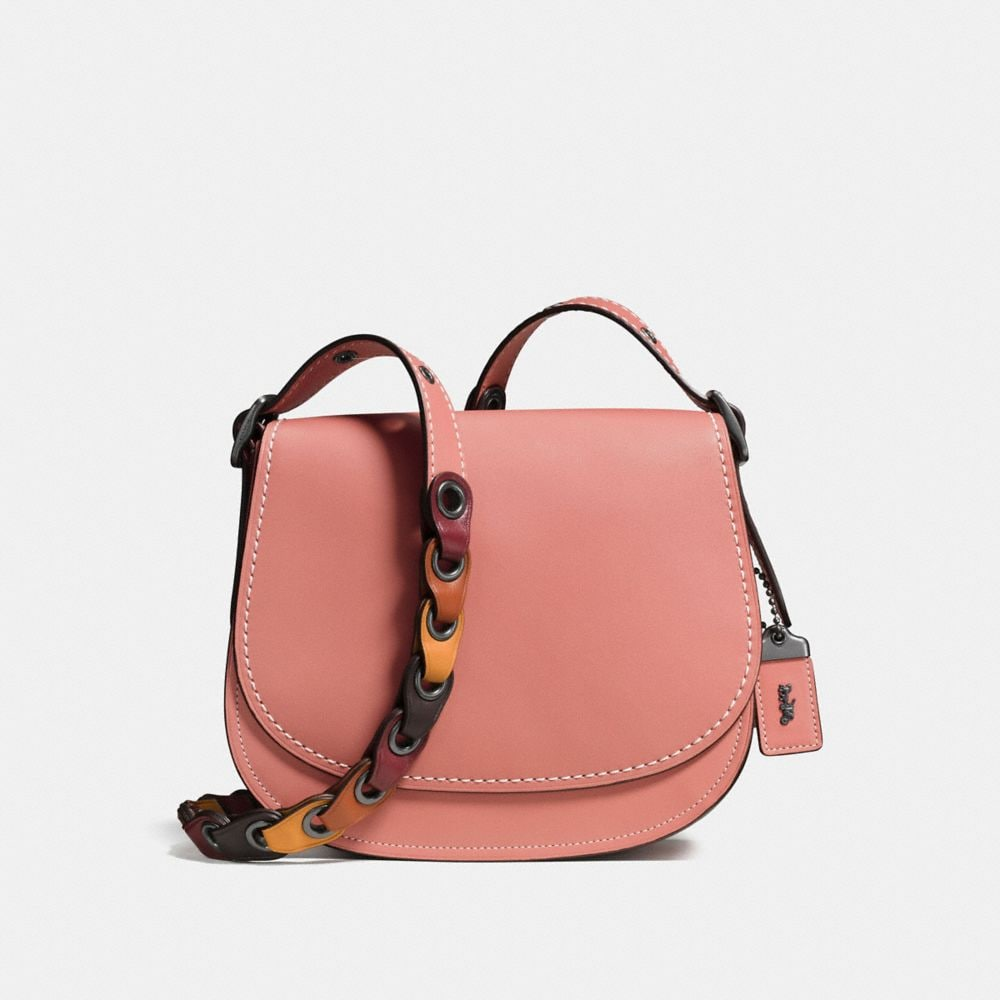 SADDLE 23 WITH COLORBLOCK COACH LINK STRAP
