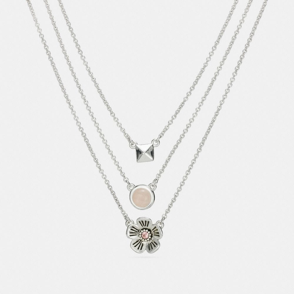 TEA ROSE MULTI CHAIN NECKLACE