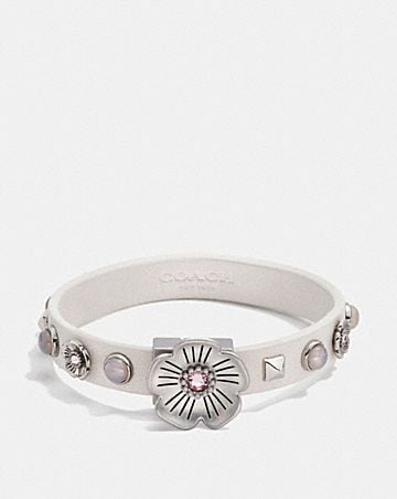 WILLOW FLORAL STUDDED LEATHER BRACELET