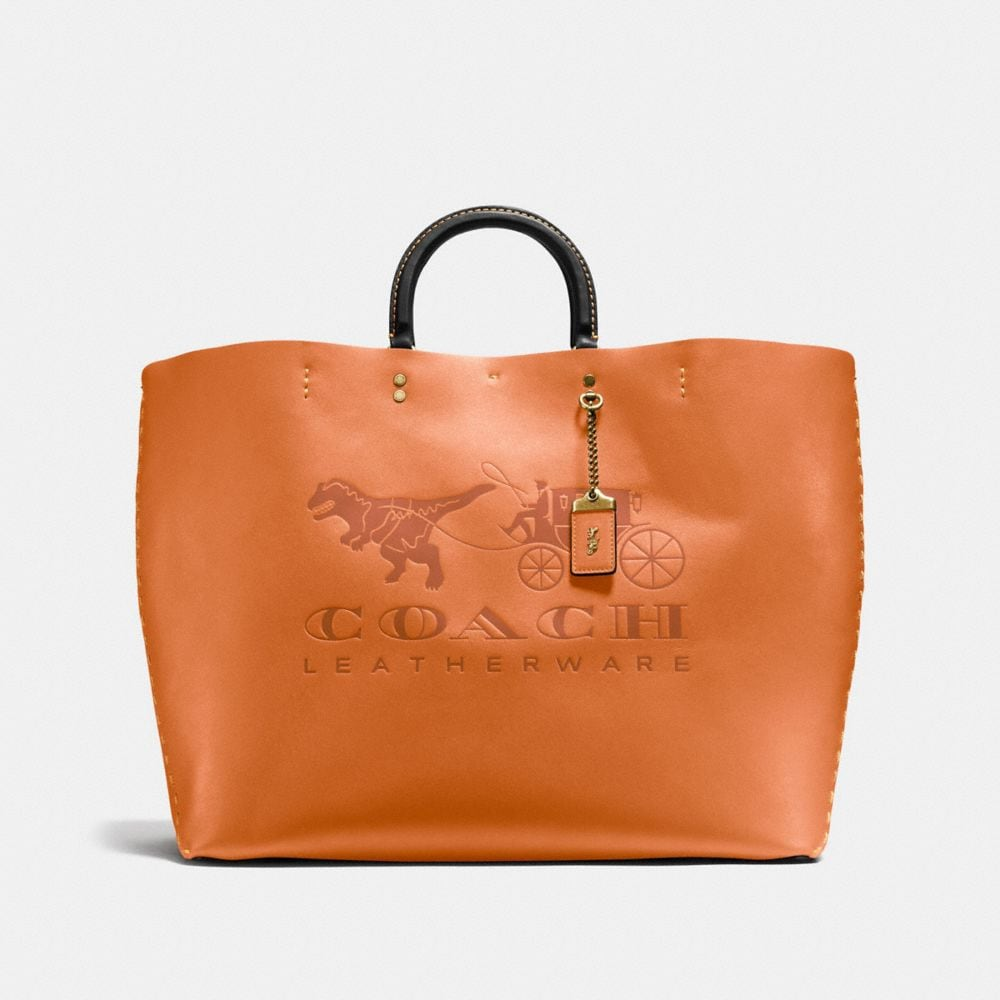 ROGUE TOTE 38 IN VERY NATURAL GLOVETANNED LEATHER