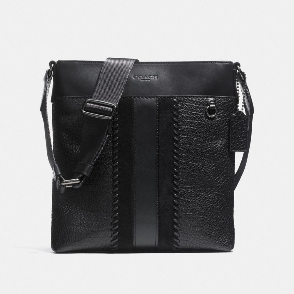 METROPOLITAN SLIM MESSENGER WITH BASEBALL STITCH