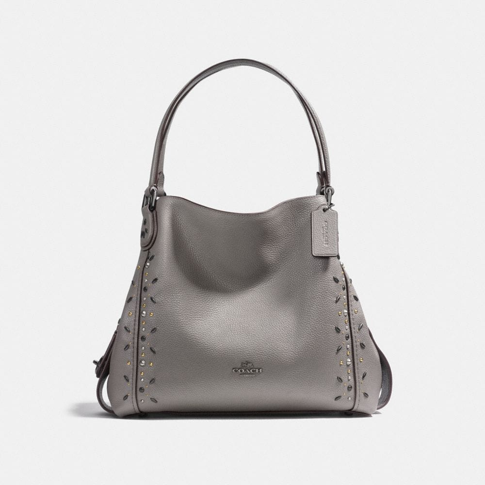 EDIE SHOULDER BAG 31 WITH PRAIRIE RIVETS