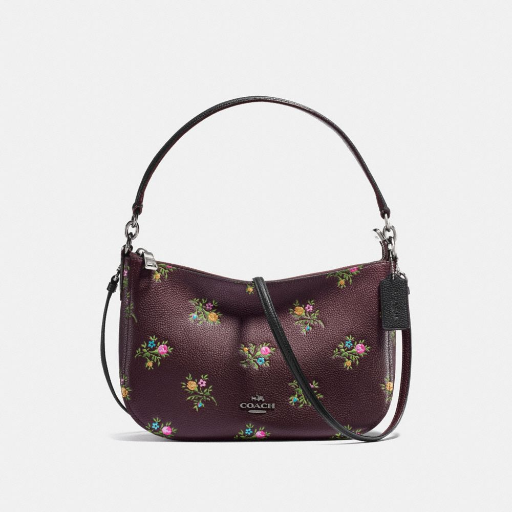 CHELSEA CROSSBODY WITH CROSS STITCH FLORAL PRINT