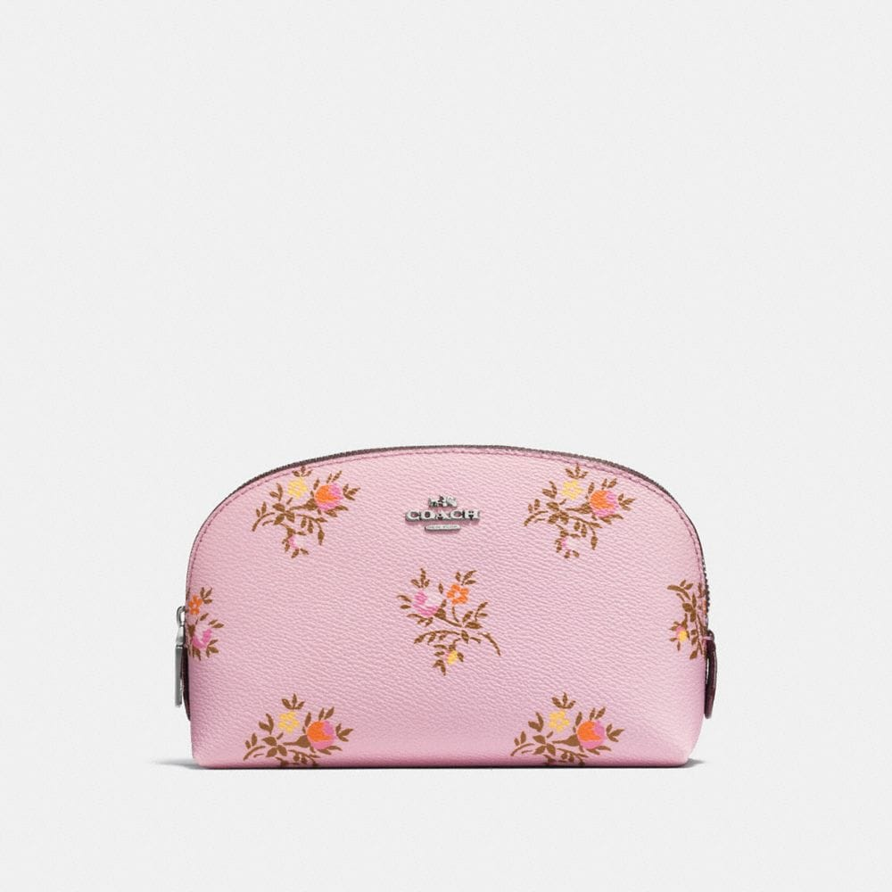 COSMETIC CASE 17 WITH CROSS STITCH FLORAL PRINT