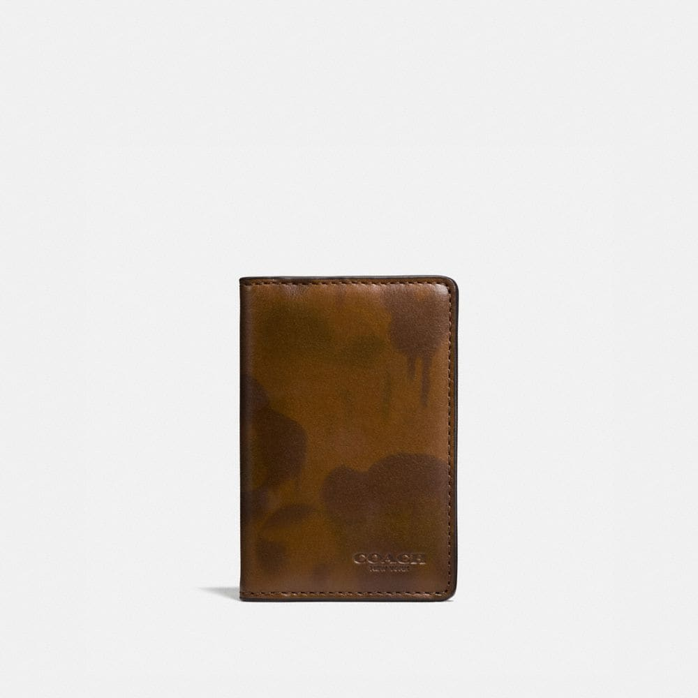 CARD WALLET WITH WILD BEAST PRINT