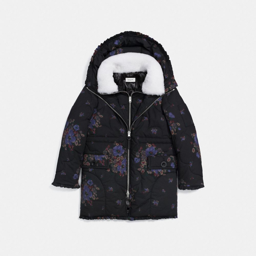 EIDERDOWN PRINTED PUFFER JACKET