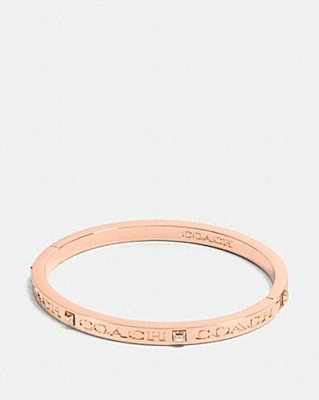 COACH PAVE HINGED BANGLE