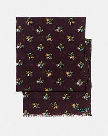 ALLOVER CROSS STITCH FLORAL OBLONG