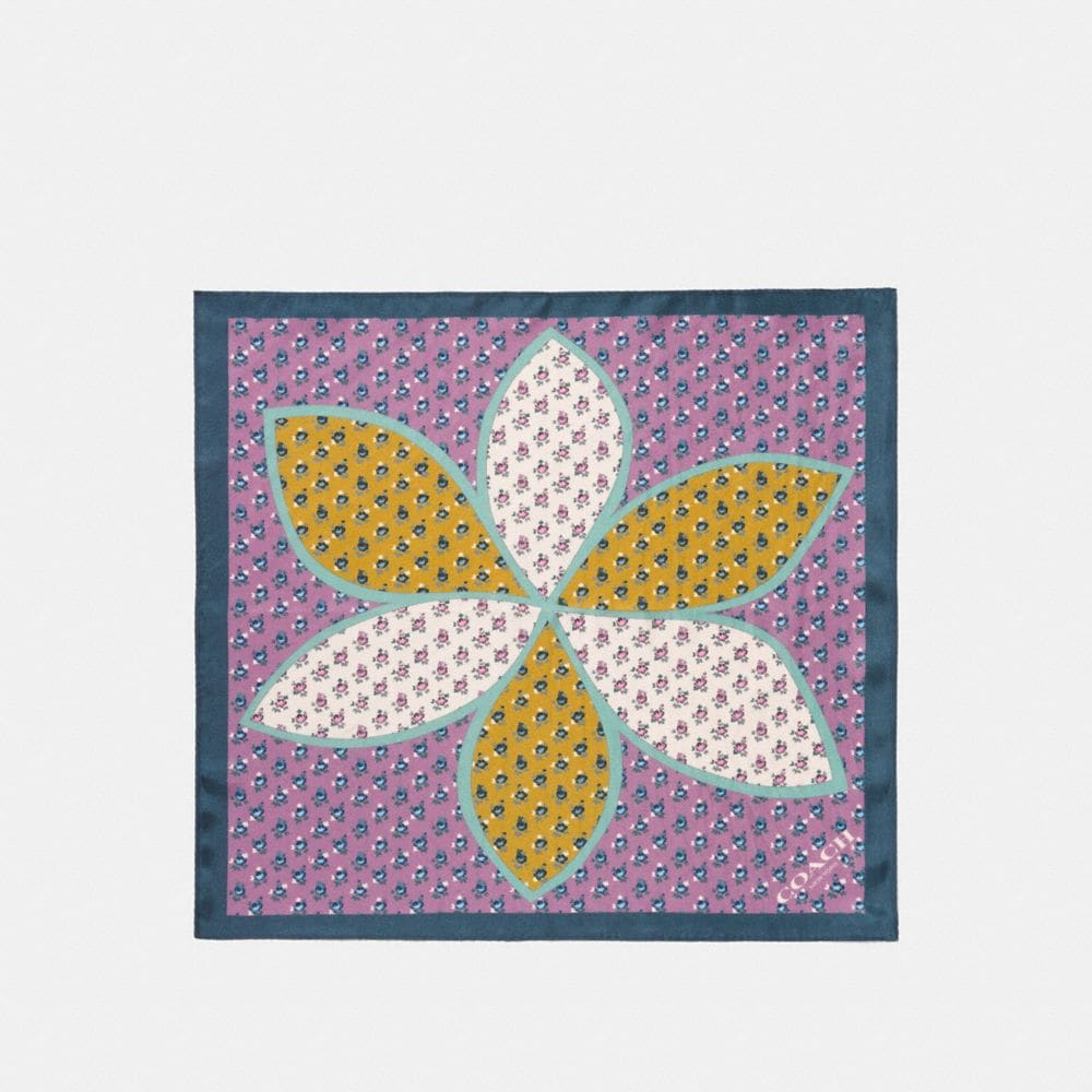 BOXED MARGUERITE FLORAL PATCHWORK HANKY