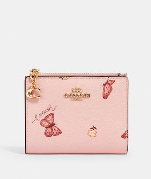 SNAP CARD CASE WITH BUTTERFLY PRINT