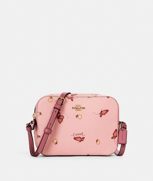 MINI CAMERA BAG WITH BUTTERFLY PRINT