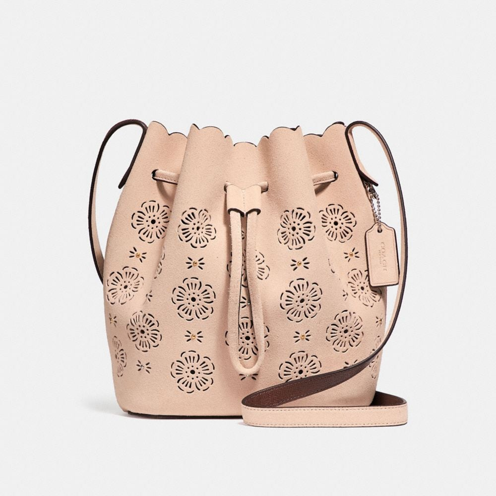 BUCKET BAG 18 WITH CUT OUT TEA ROSE