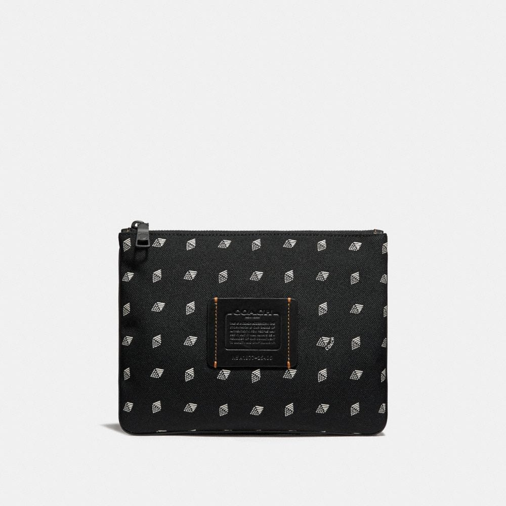 MULTIFUNCTIONAL POUCH WITH DOT DIAMOND PRINT