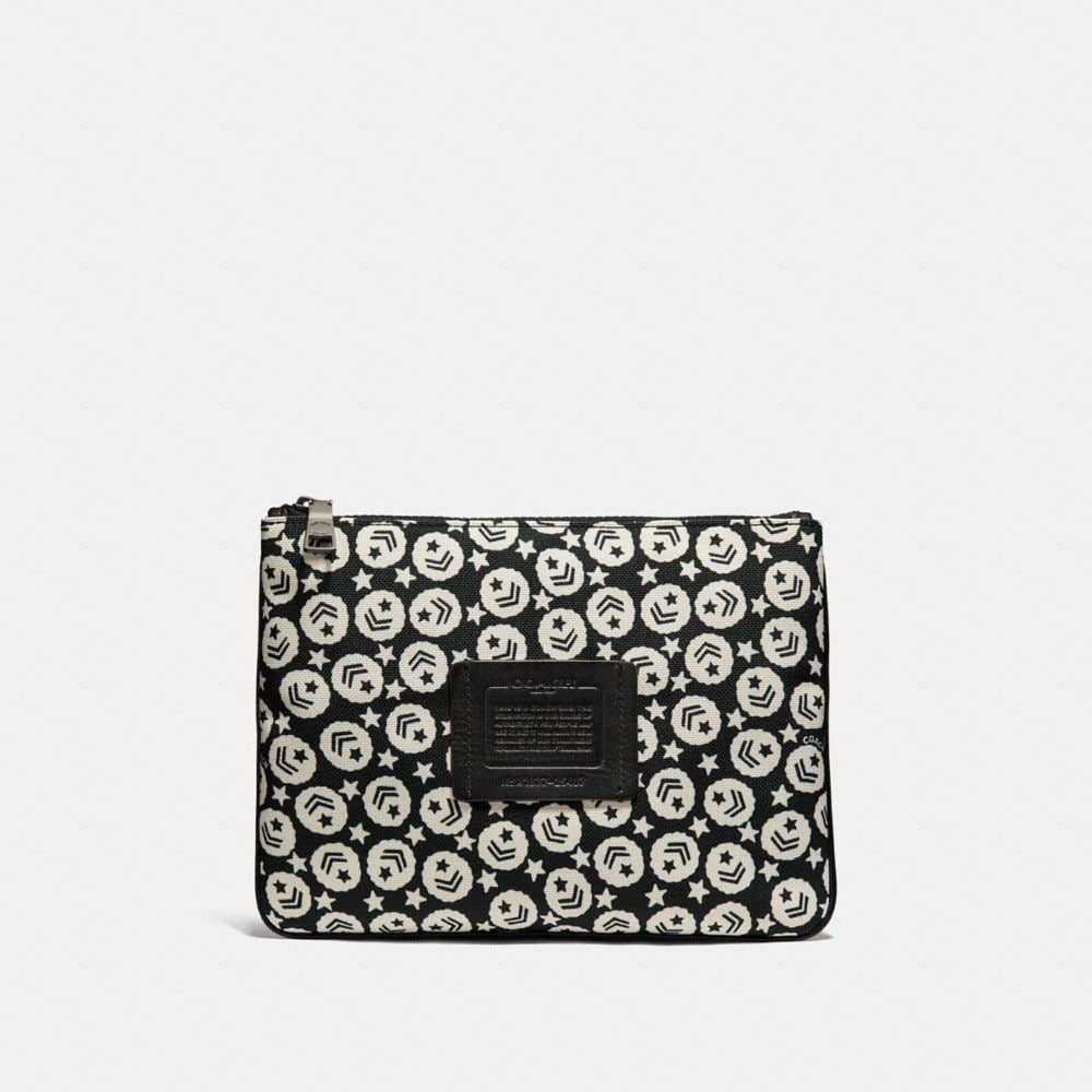 MULTIFUNCTIONAL POUCH WITH CHEVRON STAR PRINT