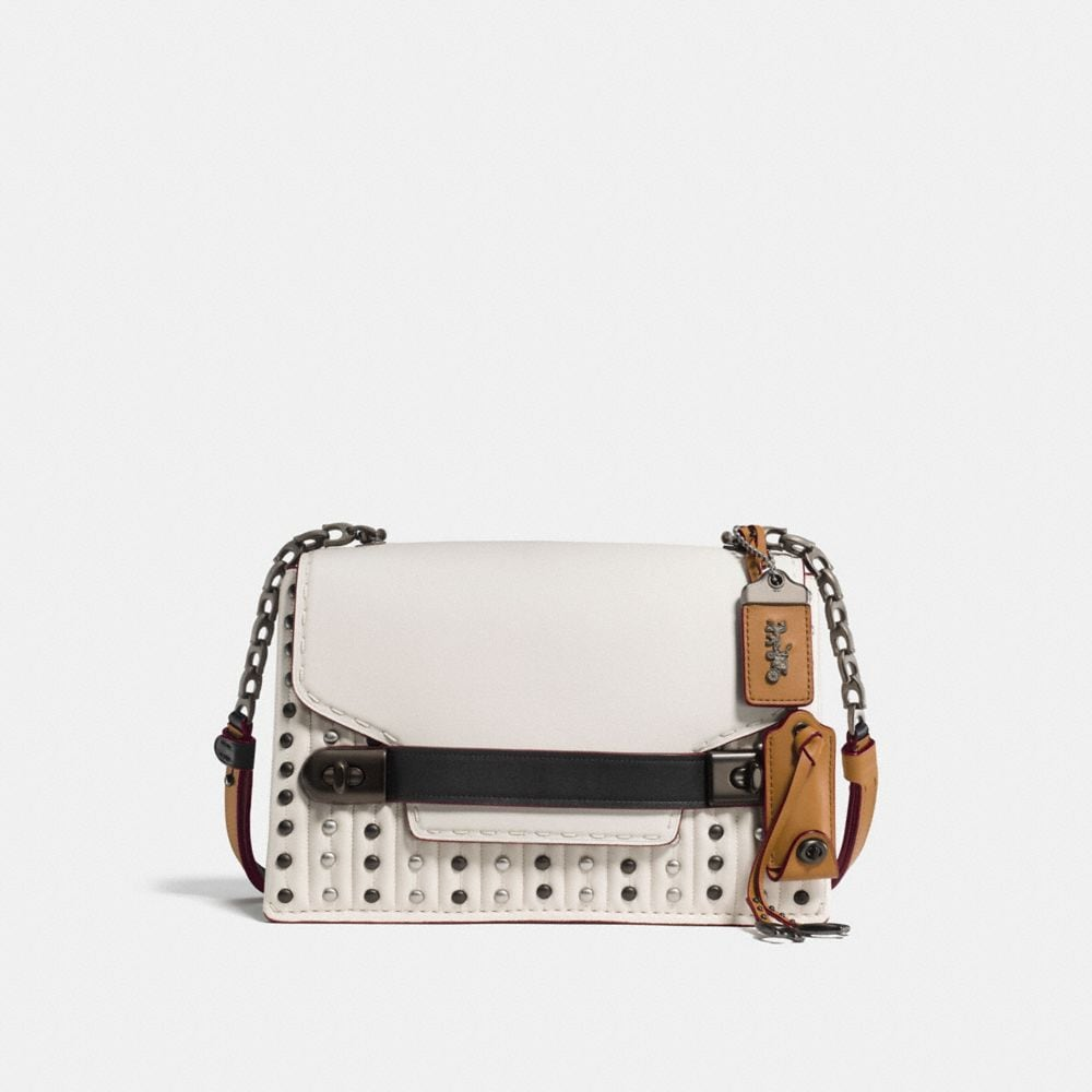 COACH SWAGGER CHAIN CROSSBODY WITH QUILTING AND RIVETS