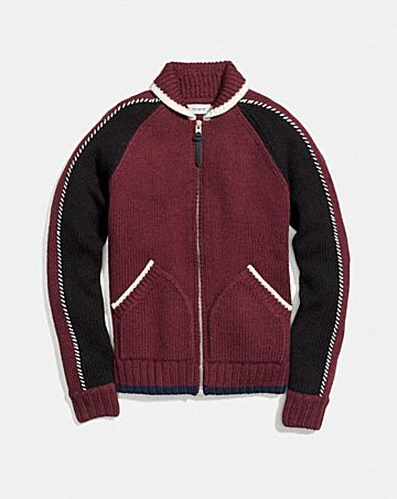 KNIT ZIP UP JACKET