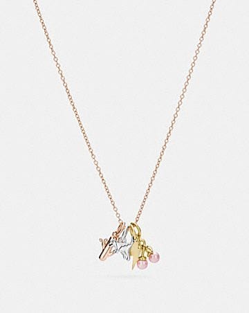DEMI-FINE MINIATURE CHARM TOGGLE NECKLACE