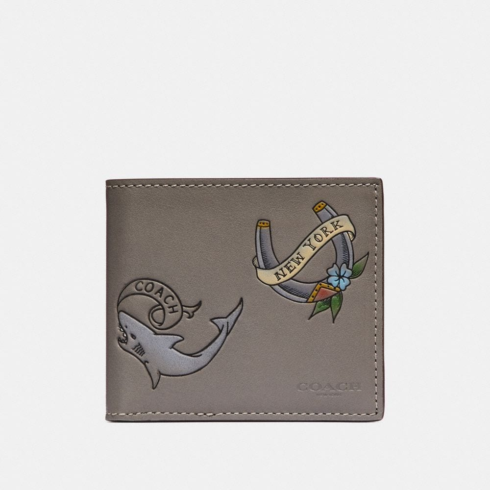 DOUBLE BILLFOLD WALLET WITH TATTOO