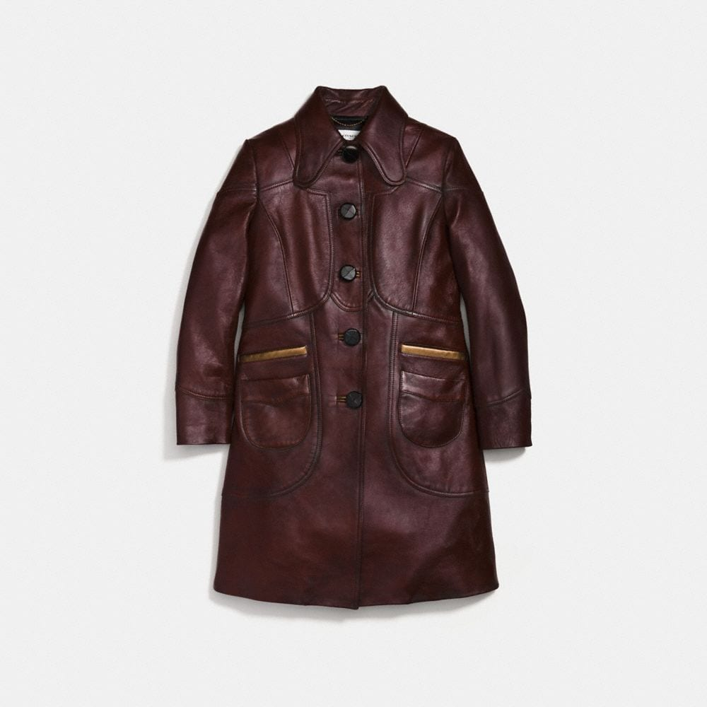 LANDSCAPE LEATHER COAT