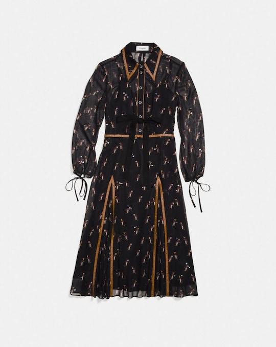 EMBELLISHED PENGUIN SHIRT DRESS