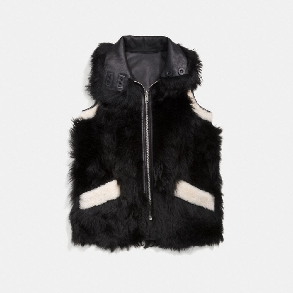 REVERSIBLE SHEARLING VEST