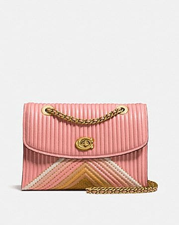 Coach holiday sale womens bags up to 30 off parker with colorblock quilting and rivets mightylinksfo