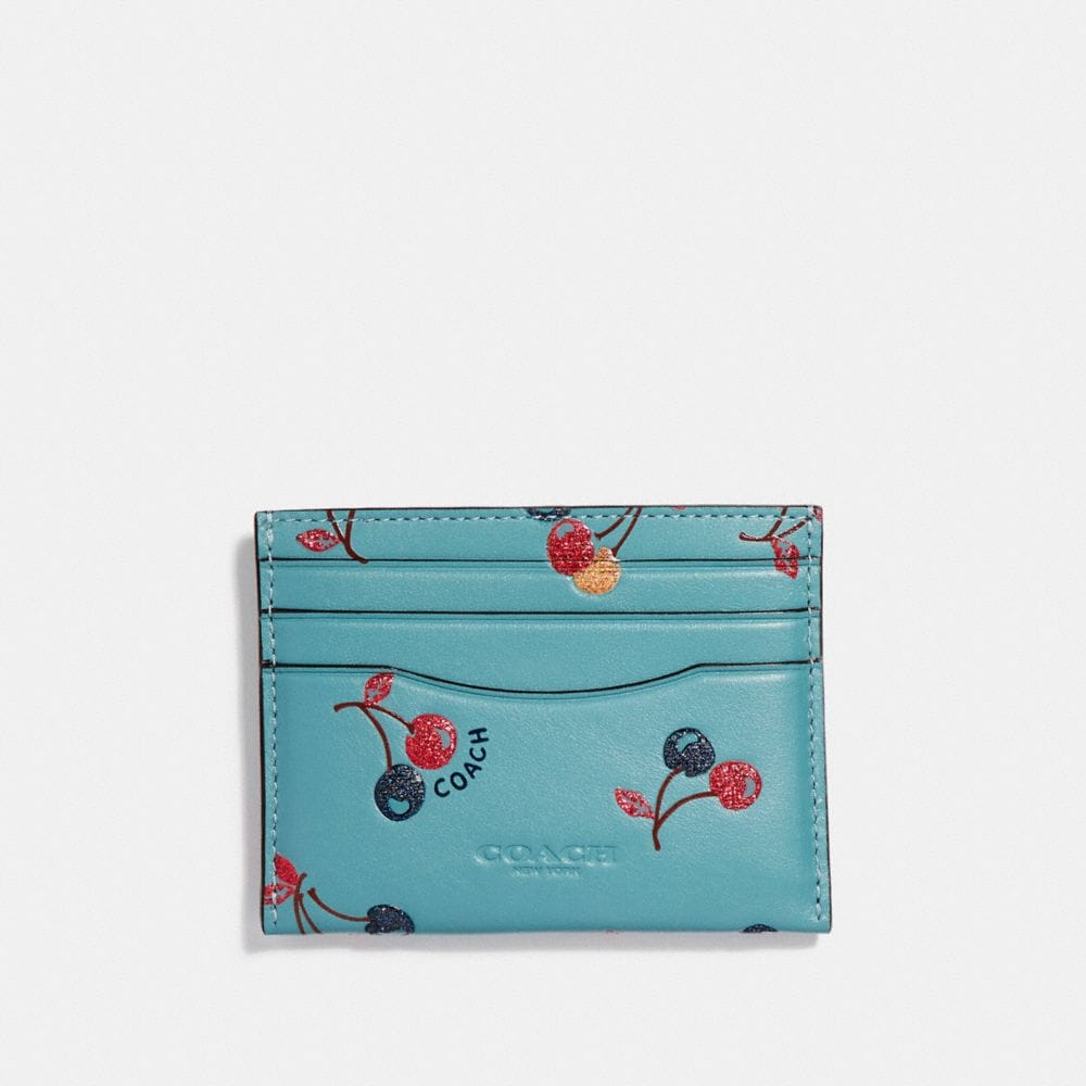 CARD CASE WITH CHERRY PRINT