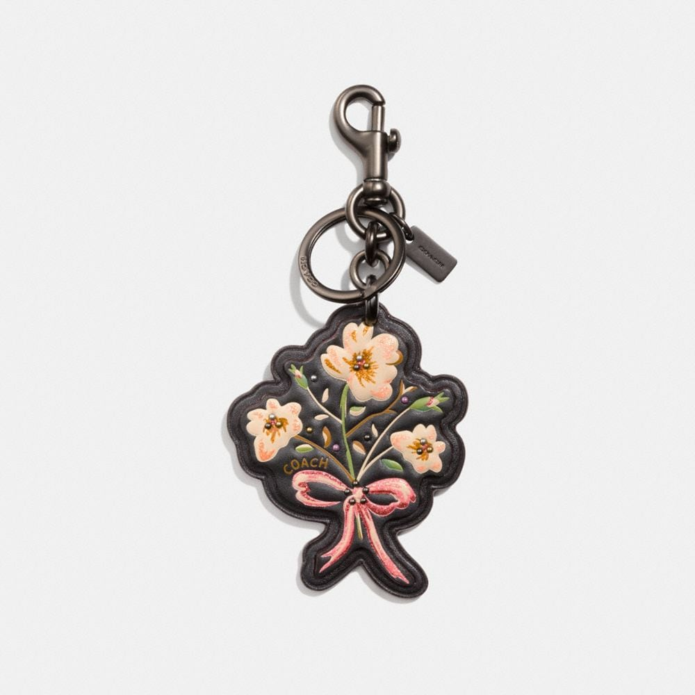 FLOWER WITH BOW BAG CHARM