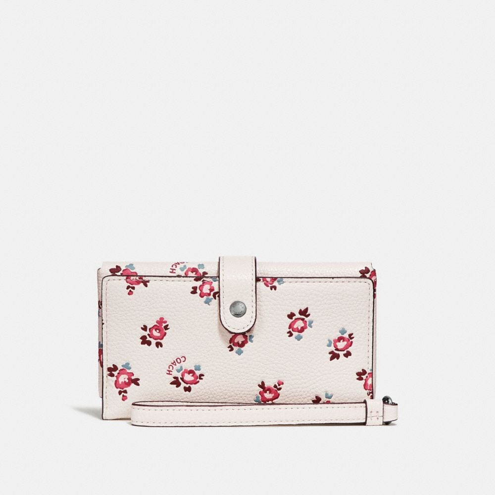 PHONE WRISTLET WITH FLORAL BLOOM PRINT