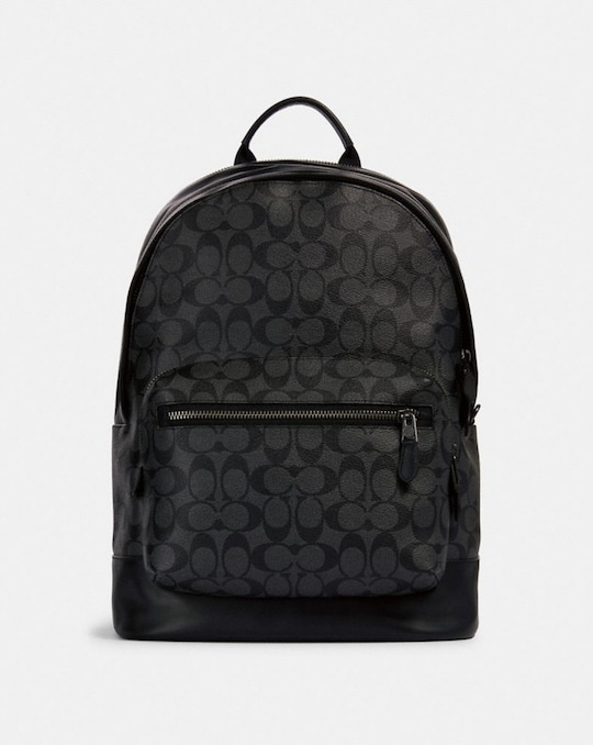 WEST BACKPACK IN SIGNATURE CANVAS