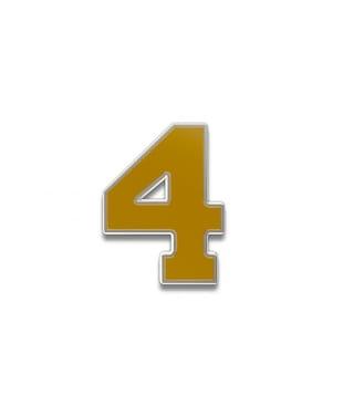 Number 4 Souvenir Pin